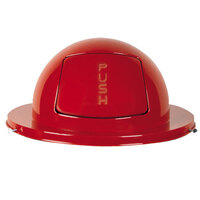 Rubbermaid FG1855 Red Steel Drum Dome Top Lid (FG1855RD)