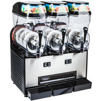 Omega OFS30 Black and Stainless Steel Triple 3 Gallon Pourover Slushy / Granita Machine - 120V