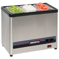 Nemco 9020-1 Countertop Cold Condiment Chiller with 1/3 Size Food Pan and Clear Hinged Lid - 120V