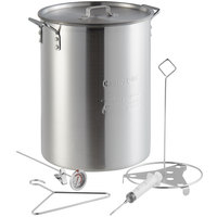 Backyard Pro Weekend Series 30 Qt. Aluminum Turkey Fry Pot / Stock Pot with Lid and Accessories