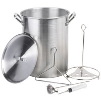 Backyard Pro 30 Qt. Aluminum Turkey Fry Pot / Stock Pot with Lid and Accessories