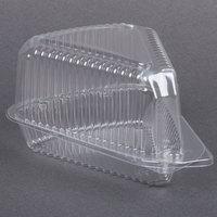 Par-Pak 3210 Medium Hinged OPS Plastic Pie Slice Container - 20 / Pack