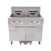 Frymaster 11814E 60 lb. High Production Electric Floor Fryer with CM3.5 Controls - 240V, 3 Phase, 17 kW