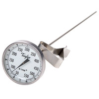 Taylor 6084J12 12 inch Candy / Deep Fry Probe Thermometer with Pan Clip