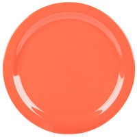 Carlisle 4350052 Dallas Ware 10 1/4 inch Sunset Orange Melamine Plate - 48/Case