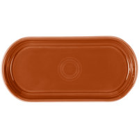 Homer Laughlin 412334 Fiesta Paprika 12 inch x 5 11/16 inch Bread Tray - 6 / Case