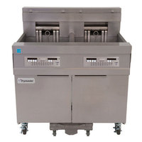 Frymaster 11814E 60 lb. High Production Electric Floor Fryer with SMART4U Lane Controls - 17 kW