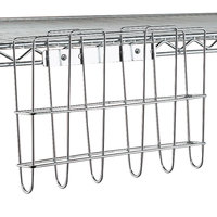Metro PH1239C Super Erecta Chrome File Basket 12 3/4 inch x 8 3/4 inch x 2 /58 inch