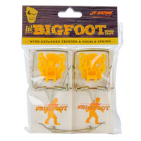 JT Eaton 406XT Little Bigfoot Wooden Mouse Snap Trap with Expanded Trigger - 4/Pack