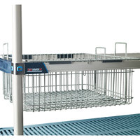 Metro MB2422XE 24 inch X 22 inch Wire Basket with Epoxy Coating for MetroMax iQ Shelving