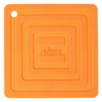 Lodge AS6S61 Orange 6 inch x 6 inch Silicone Pot Holder