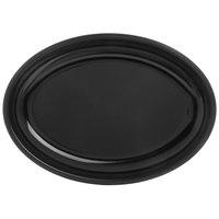 Carlisle 791803 Designer Displayware 19 3/16 inch x 13 3/4 inch Black Oval Platter - 4/Case