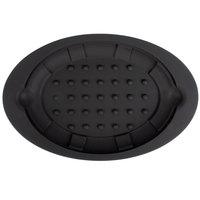 Lodge US011 Black 8 3/4 inch x 13 inch Silicone Sizzler Platter Underliner