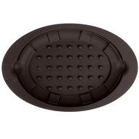 Lodge US081 Brown 8 3/4 inch x 13 inch Silicone Sizzler Platter Underliner
