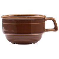 Homer Laughlin 13049392 Bosque Maple 10.5 oz. Stackable Cup - 36/Case