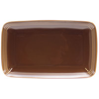 Homer Laughlin 10459392 Bosque Maple 11 1/4 inch X 6 3/4 inch Rectangle Dish - 12/Case