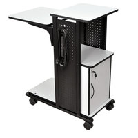 Luxor WPS4CE Presentation Station Cart with Locking Cabinet - 34 1/2 inch x 18 1/4 inch x 39 1/2 inch