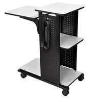 Luxor WPS4E Presentation Station Cart - 34 1/2 inch x 18 1/4 inch x 39 1/2 inch