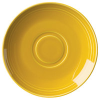 Homer Laughlin 13149518 Bosque Goldenrod 6 1/2 inch Saucer - 36/Case
