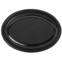 Carlisle 791603 Designer Displayware 16 inch x 12 inch Black Oval Platter - 4/Case