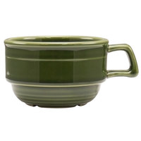 Homer Laughlin 13049391 Bosque Moss 10.5 oz. Stackable Cup - 36/Case