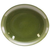 Homer Laughlin 13249391 Bosque Moss 12 inch x 10 5/8 inch Oval Platter - 12/Case