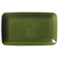 Homer Laughlin 10459391 Bosque Moss 11 1/4 inch X 6 3/4 inch Rectangle Dish - 12 / Case