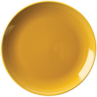 Homer Laughlin 13109518 Bosque Goldenrod 10 1/2 inch Round Plate - 12/Case