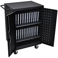 Luxor LLTP24-B 24 Laptop Charging Cart - 31 1/8 inch x 21 1/8 inch x 40 1/8 inch