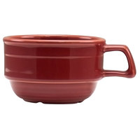 Homer Laughlin 13049390 Bosque Chestnut 10.5 oz. Stackable Cup - 36/Case