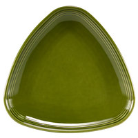 Homer Laughlin 13199391 Bosque Moss 8 3/4 inch Triangle Plate - 12/Case