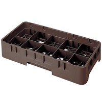Cambro 10HS1114167 Brown Camrack 10 Compartment 11 3/4 inch Half Size Glass Rack