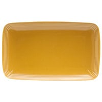 Homer Laughlin 10459518 Bosque Goldenrod 11 1/4 inch X 6 3/4 inch Rectangle Dish - 12/Case