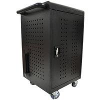 Luxor LLTM30-B 30 Tablet / Chromebook Charging Cart - 26 inch x 20 1/4 inch x 36 3/4 inch