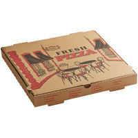 Choice 16 inch x 16 inch x 2 inch Kraft Corrugated Pizza Box   - 50/Case