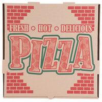 16 inch x 16 inch x 1 3/4 inch Kraft Corrugated Pizza Box - 50/Case