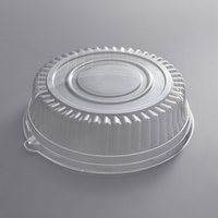 Visions 12 inch Clear PET Plastic Round Catering Tray High Dome Lid - 25/Case