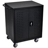 Luxor LLTM42-B 42 Tablet / Chromebook Charging Cart - 28 3/4 inch x 22 1/2 inch x 36 3/4 inch