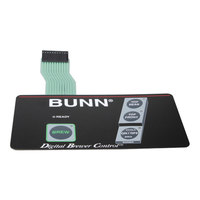 Bunn 29006.0001 Membrane Switch for CDBCF Coffee Brewers with 3 Lower Warmers