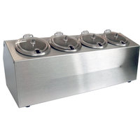 Steril-Sil CC-LTC-4SW 4-Hole Complete Insulated Ice-Cooled Stainless Steel Countertop Condiment Dispenser