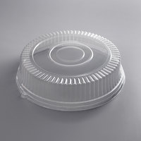 Visions 18 inch Clear PET Plastic Round Catering Tray High Dome Lid - 25/Case