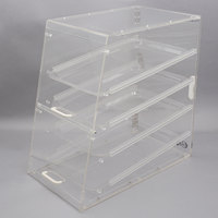 Choice 4 Tray Bakery Display Case with Front and Rear Doors - 24 inch x 14 inch x 24 inch