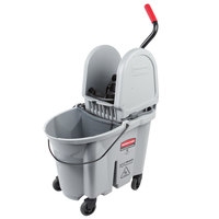 Rubbermaid 1863899 Gray 35 Qt. Executive Series WaveBrake® Down Press Mop Bucket