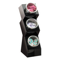 Cal-Mil 1016-3S Black Three Compartment Condiment Organizer