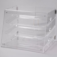 Choice 3 Tray Bakery Display Case with Rear Doors - 21 inch x 17 3/4 inch x 16 1/2 inch