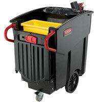 Rubbermaid FG9W7300BLA Mega Brute Black 120 Gallon Rectangular Executive Series Mobile Waste Collector