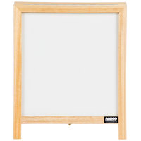 Aarco 14 inch x 12 inch Tabletop A-Frame Sign with White Marker Board