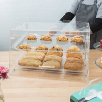 Choice 2 Tray Bakery Display Case with Front and Rear Doors - 21 inch x 17 inch x 12 inch