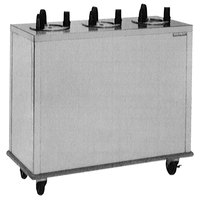 Delfield CAB3-1200 Mobile Enclosed Three Stack Dish Dispenser for 10 1/8 inch to 12 inch Dishes