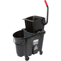Rubbermaid Black 1863896 35 Qt. Executive Series WaveBrake® Side Press Mop Bucket
